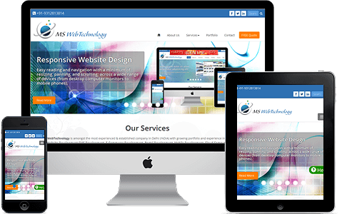 Responsive Website Design in Delhi, Noida, Gurgaon, Ghaziabad, India